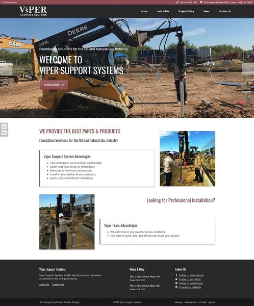 Viper Support Sysytems Launches New Website
